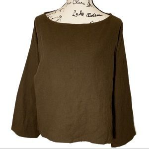 Soft Surroundings Wide sleeve round neck top